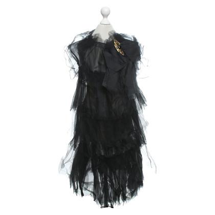 Dolce & Gabbana Flounce dress with brooch