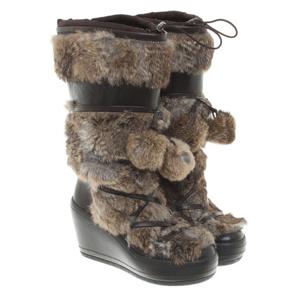Ash Boots with rabbit fur