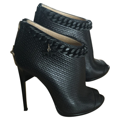 Elisabetta Franchi Peeptoe-Ankle Boots