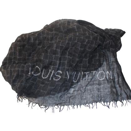 Louis Vuitton SCIARPA Damier nero di cachemire grigio
