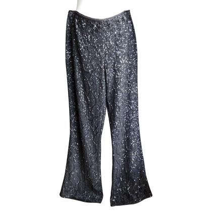 Escada Pantaloni con finiture in paillettes