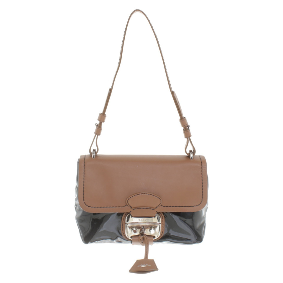 bally handtasche in bicolor second hand bally handtasche. Black Bedroom Furniture Sets. Home Design Ideas
