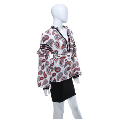 Dodo Bar Or Silk blouse with pattern