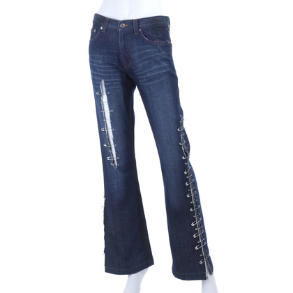 D&G Jeans mit Sicherheitsnadeln