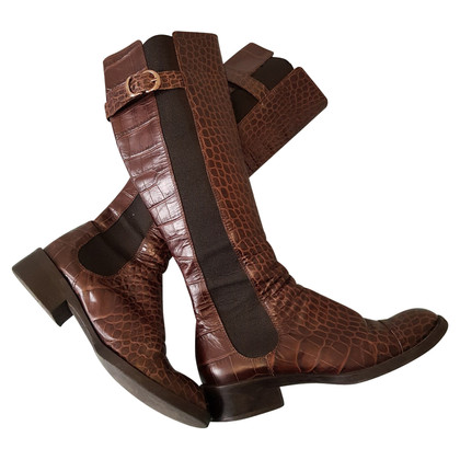 Armani Leather boots in reptile look