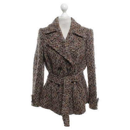 Rena Lange Short coat with diamond pattern