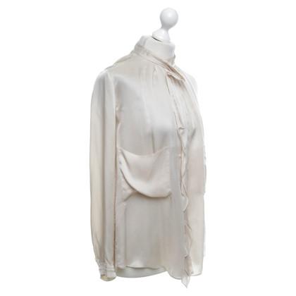 Schumacher camicetta di seta in crema