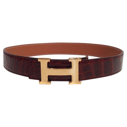 Hermès Crocodile leather belt