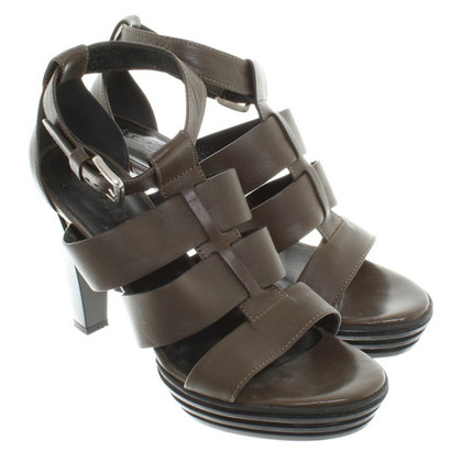 Hogan Sandals in Olive