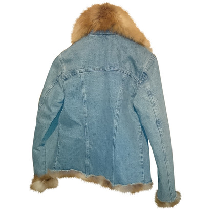 Ermanno Scervino Denim jacket with Fox Fur