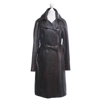 Armani Jeans Leather coat in brown