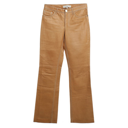 Yves Saint Laurent Leather pants in Beige