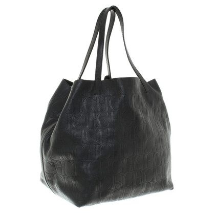 Carolina Herrera Ledershopper in Schwarz
