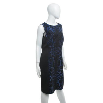 Hobbs Jacquard-Kleid in Blau/Schwarz