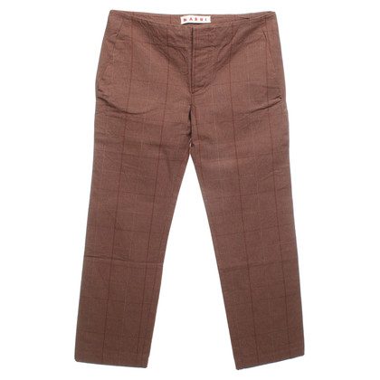 Marni trousers with checked pattern