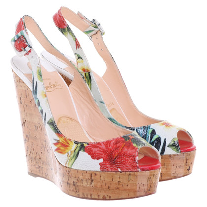 Christian Louboutin Wedges with floral print