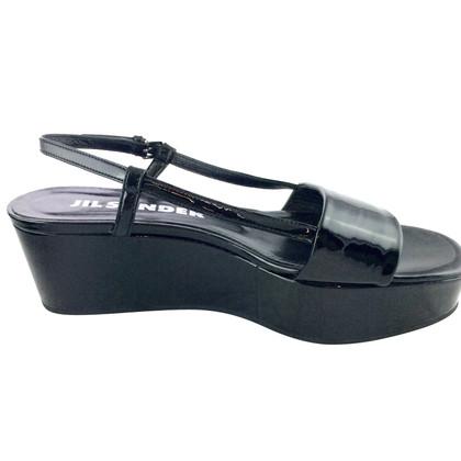 Jil Sander Patent leren sandalen