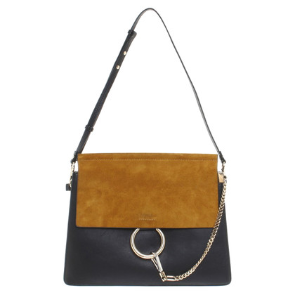Chloé « Faye Bag » en bleu / moutarde