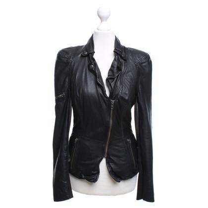 Muubaa Leather jacket in used look