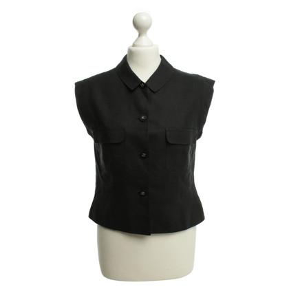 Chanel Kurzärmlige Bluse in Schwarz