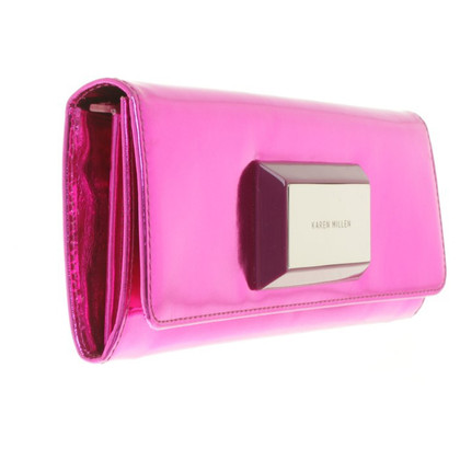 Karen Millen clutch in Pink