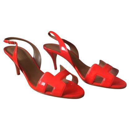 Hermès Sandalen in het rood