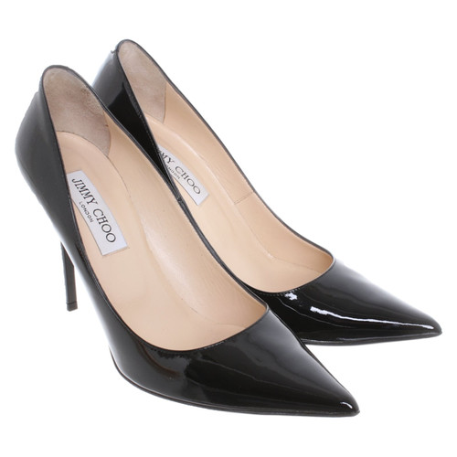 6af41403107 Jimmy Choo Pumps/Peeptoes Patent leather in Black - Second Hand ...