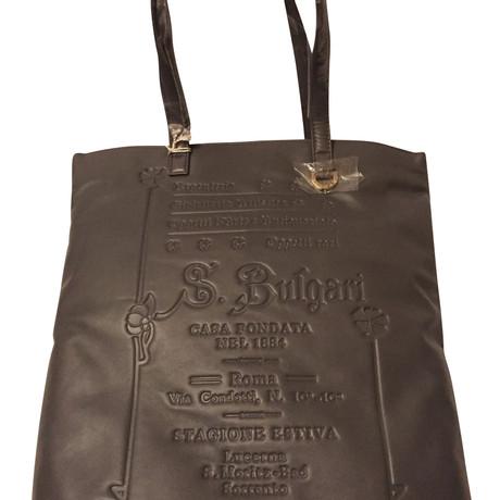 Bulgari Tote Bag Grau Verkauf Niedrig Versandkosten Freiraum Für Billig lbBAQJa9K