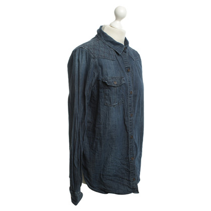 Paige Jeans Denim shirt in dark blue