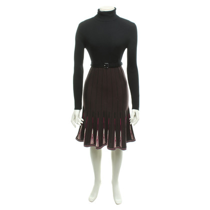 Karen Millen Knit dress in black / brown