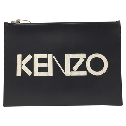 Kenzo black leather pochette