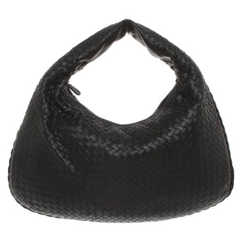 Bottega Veneta Handbag Leather in Black - Second Hand Bottega Veneta ... 5772955d46fb7