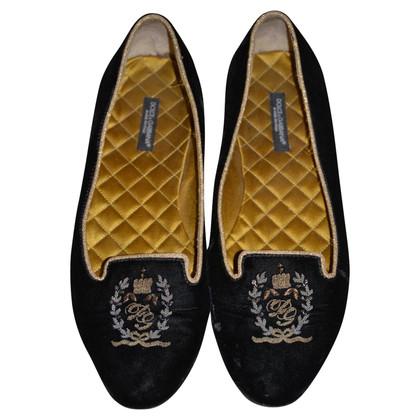 Dolce & Gabbana Fluweel instappers