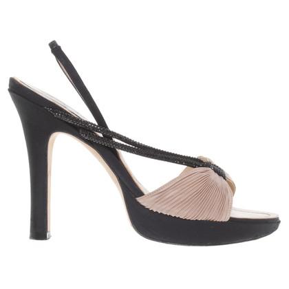René Caovilla Sandals in black / beige