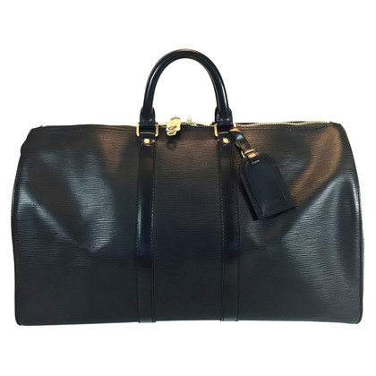 "Louis Vuitton ""Keepall 45 Epi leder"" in zwart"