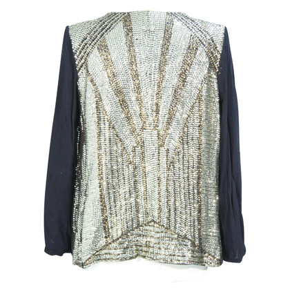 French Connection Sequin Top in goud