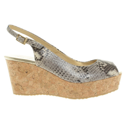 Jimmy Choo Wedges mit Animal-Print