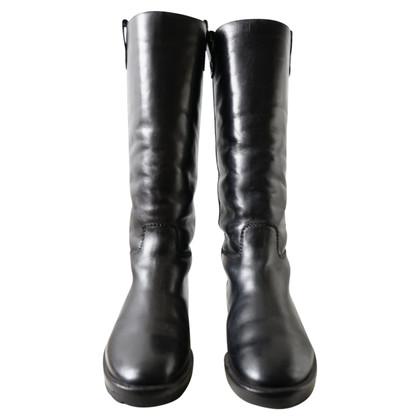 Chanel Black lambskin boots