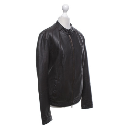 Armani Jeans Leather jacket in black