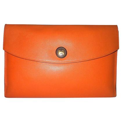"Hermès Pouch ""Rio"" in orange leather"