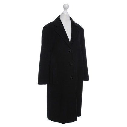 René Lezard Coat in Black