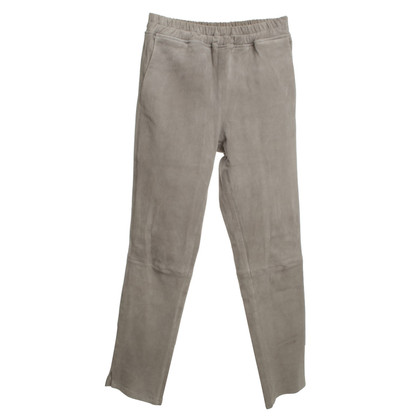 Arma Leather pants in gray