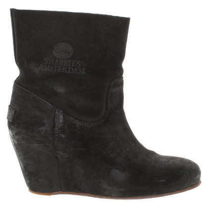 Shabbies Amsterdam Ankle boots with wedge heel