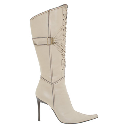 Casadei Leather boots in cream