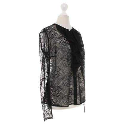 Patrizia Pepe Black lace blouse
