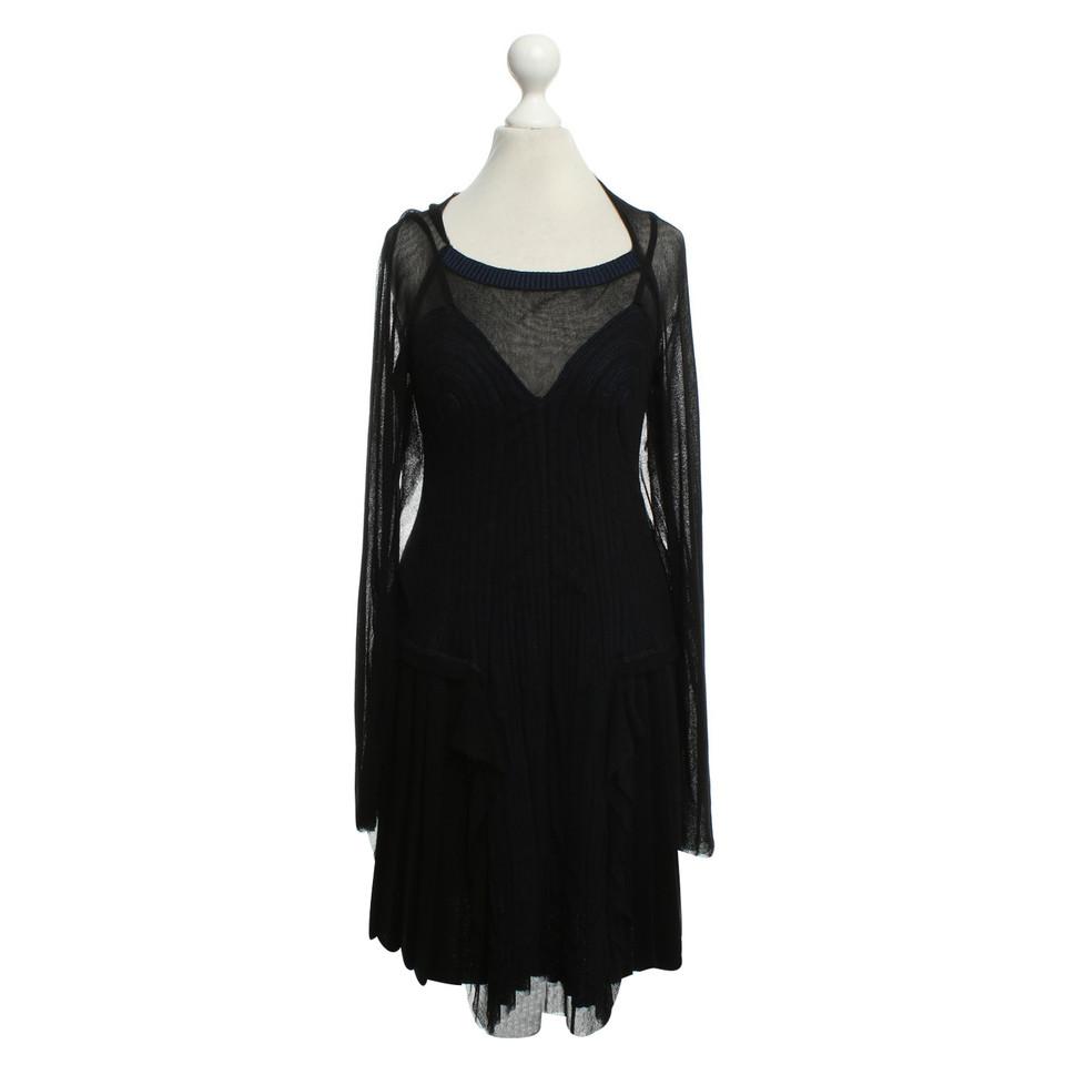 Jean Paul Gaultier Kleid in Schwarz und Blau