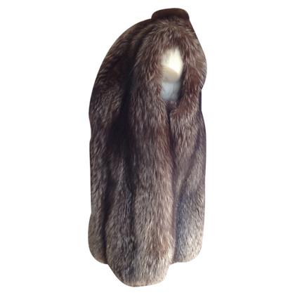 Altre marche Gilet in pelliccia di volpe d'argento