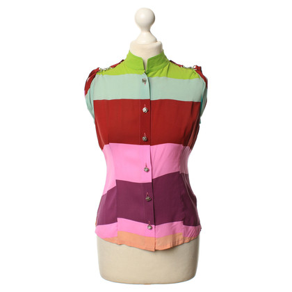 Gianni Versace Sleeveless blouse in color