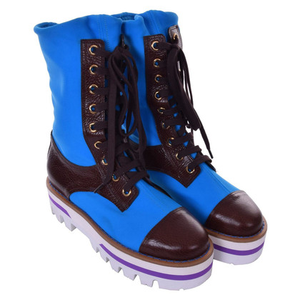 Dolce & Gabbana Boots in blue / brown
