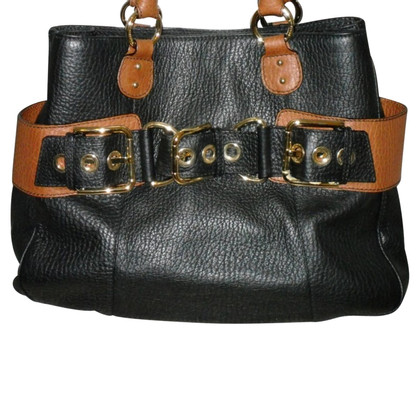 Dolce & Gabbana black label leather handbag